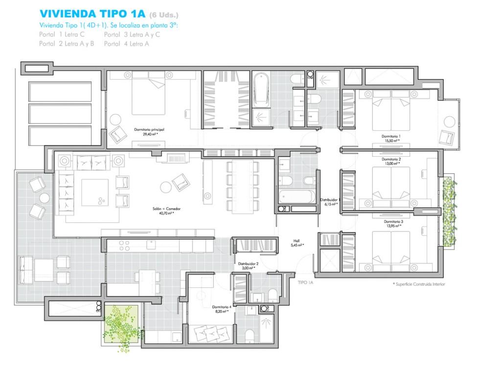 Viviendas en 3 planta encinar garden for Viviendas para terrazas