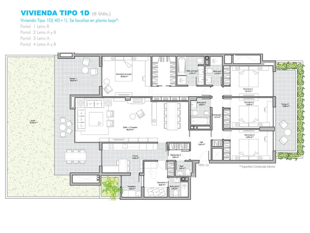 Viviendas en planta baja encinar garden for Viviendas para terrazas